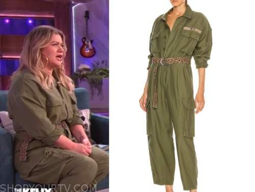 kelly clarkson, the kelly clarkson show, green utility jumpsuit