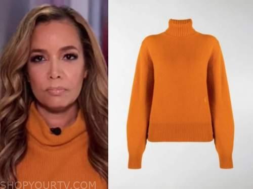 sunny hostin, the view, orange turtleneck sweater