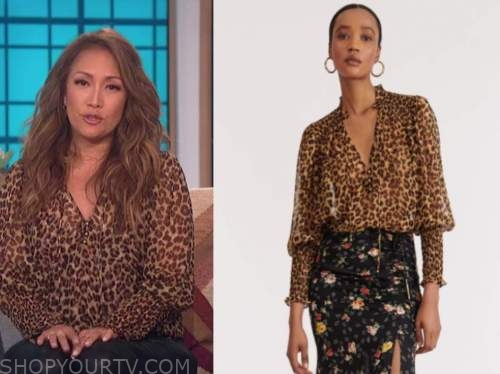 carrie ann inaba, leopard blouse, the talk
