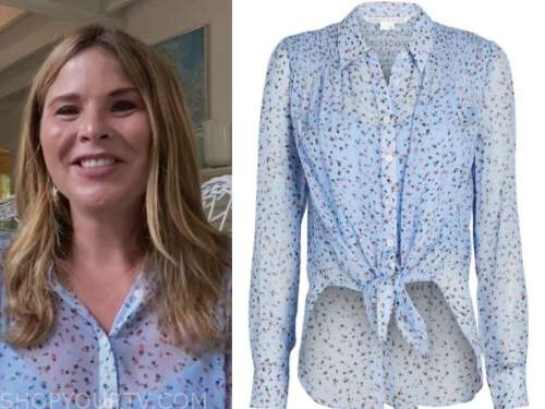 jenna bush hager, the kelly clarkson show, blue floral blouse