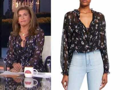 hoda kotb, black floral blouse, the today show