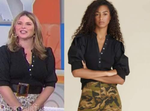jenna bush hager, the today show, black puff sleeve top