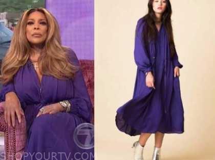 wendy williams, the wendy williams show, purple midi dress