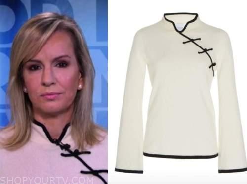 dr. jennifer ashton, good morning america, white and black cashmere sweater