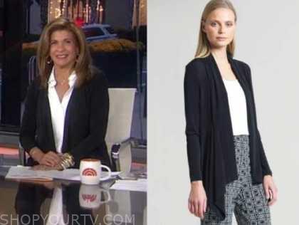 hoda kotb, the today show, black cardigan sweater