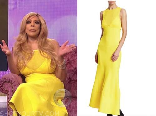 wendy williams, the wendy williams show, yellow maxi dress
