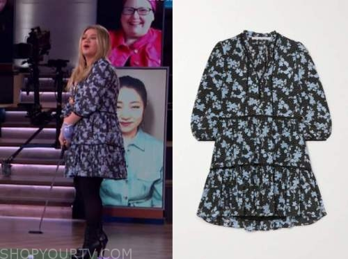 kelly clarkson, the kelly clarkson show, blue floral dress