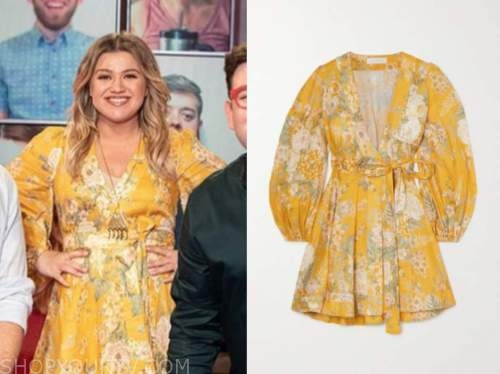 kelly clarkson, the kelly clarkson show, yellow floral dress