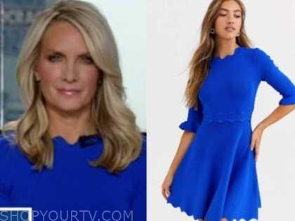 dana perino, the five, blue scallop dress