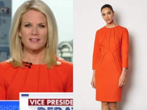 martha maccallum, orange dress, the five
