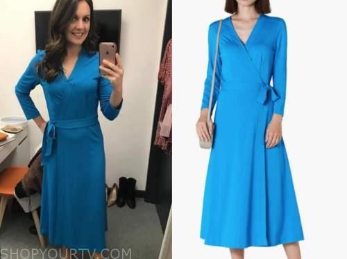 good morning britain, blue wrap midi dress, laura tobin
