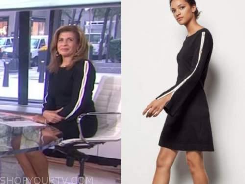 hoda kotb, the today show, black and white cutout sleeve dress