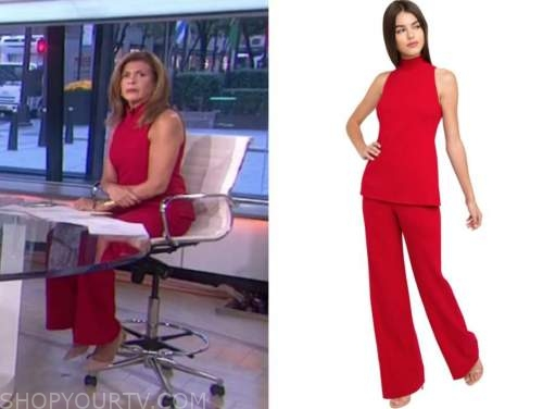 hoda kotb, red jumpsuit, the today show