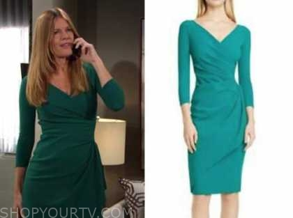michelle stafford, phyllis newman, green dress, the young and the restless