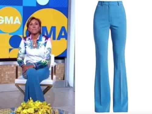 good morning america, robin roberts, blue pants