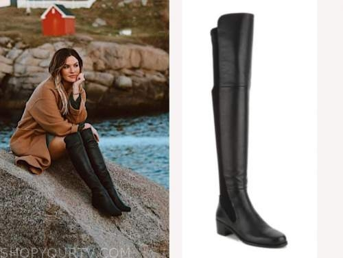 becca tilley, the bachelor, black over the knee boots