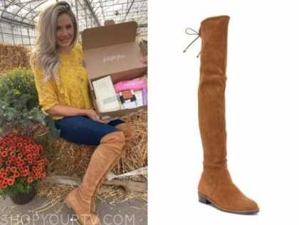 janelle pierzina, brown suede over-the-knee boots, big brother