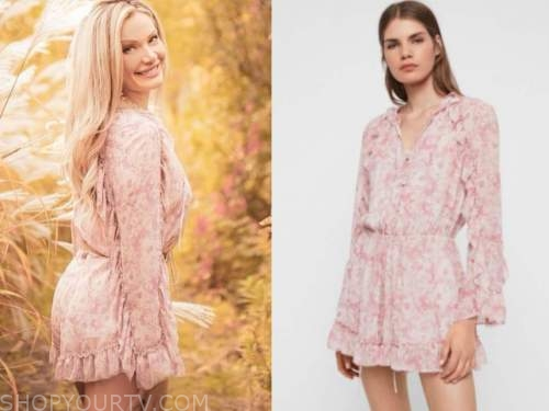 janelle pierzina, big brother usa, pink floral ruffle romper