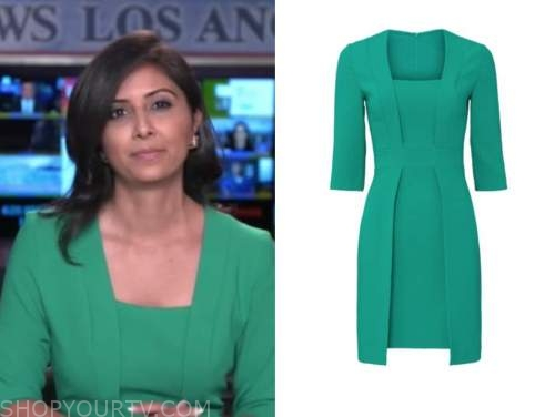 zohreen shah, green dress, good morning america