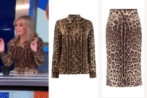 dr. jennifer ashton, good morning america, leopard blouse and leopard skirt