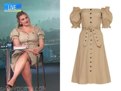 carissa culiner, E! news, daily pop, beige trench dress