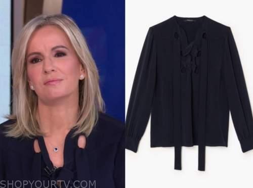dr. jennifer ashton, navy lace-up blouse, good morning america