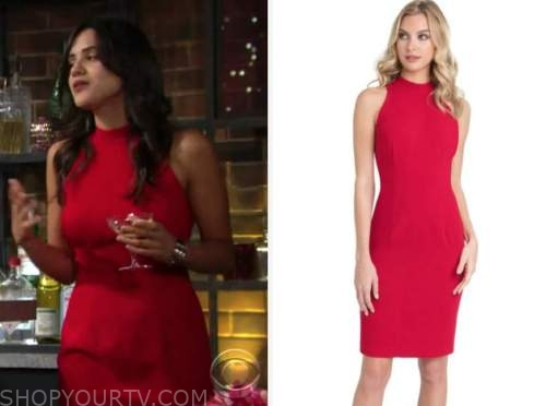 sasha calle, red dress, lola rosales, the young and the restless