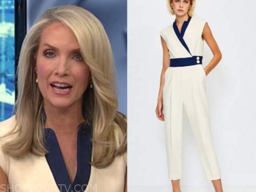 dana perino, ivory and navy jumpsuit, the daily briefing, the five