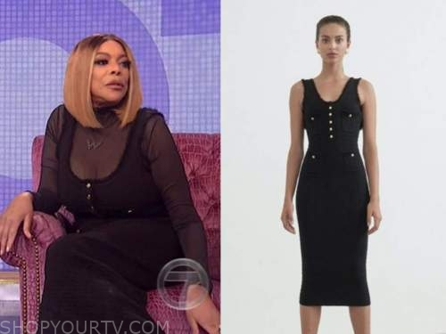 wendy williams, the wendy williams show, black tweed dress