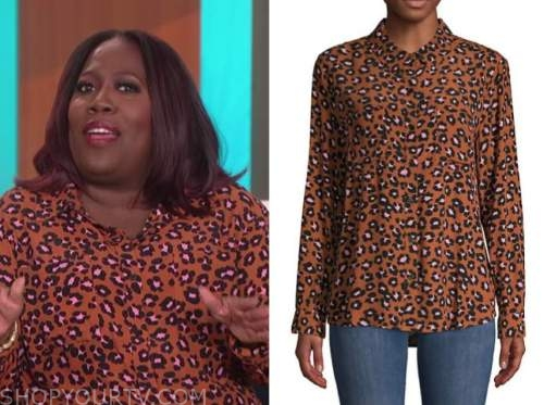 sheryl underwood, the talk, leopard blouse