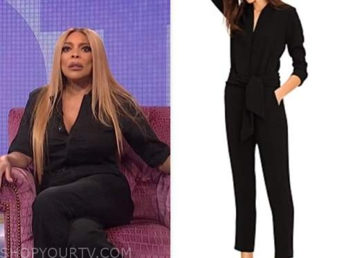 wendy williams, the wendy williams show, black jumpsuit