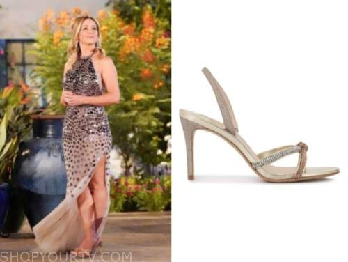clare crawley, the bachelorette, gold embellished sandals