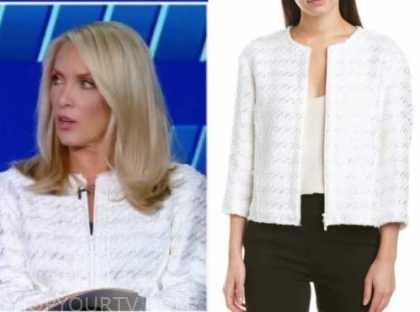 dana perino, the five, white tweed jacket