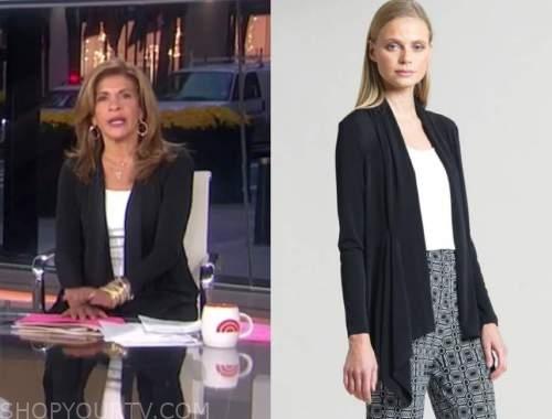 hoda kotb, the today show, black drape cardigan sweater