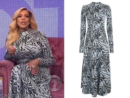 wendy williams, the wendy williams show, blue zebra knit dress