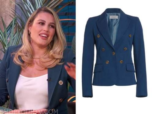 e! news, daily pop, carissa culiner, blue double breasted blazer