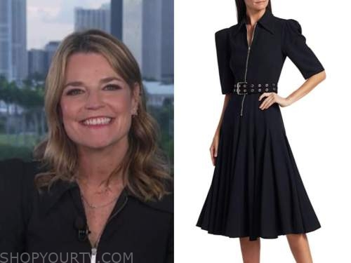 savannah guthrie, the today show, black zip-front dress