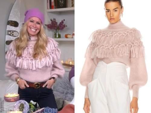 jill martin, blush pink tassel turtleneck sweater, the today show