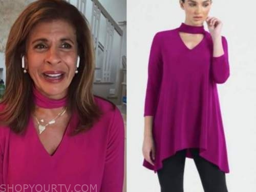 hoda kotb, the kelly clarkson show, hot pink cutout top