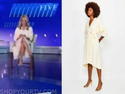 dana perino, the five, the daily briefing, ivory wrap dress