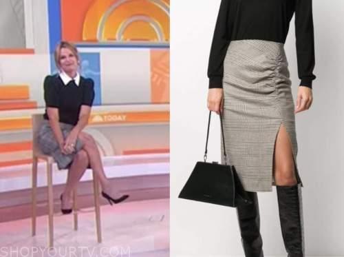 savannah guthrie, plaid pencil skirt, the today show