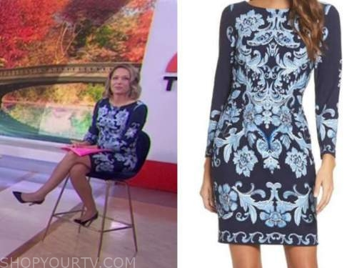 dylan dreyer, the today show, blue floral sheath dress
