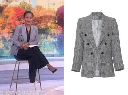 sheinelle jones, the today show, plaid double breasted blazer