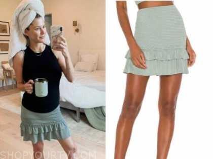 ashlee frazier, the bachelor, green ruffle skirt