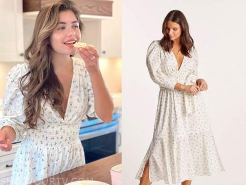 hannah ann sluss, the bachelor, white floral midi dress