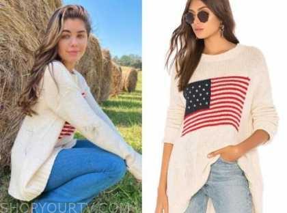 hannah ann sluss, american flag sweater, the bachelor