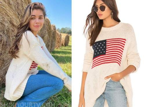 hannah ann sluss, american flag sweater, the bachelor