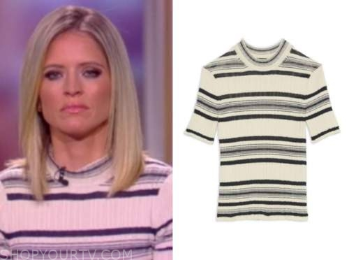 sara haines, the view, striped knit top