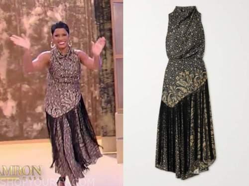 tamron hall, tamron hall show, paisley fringe dress