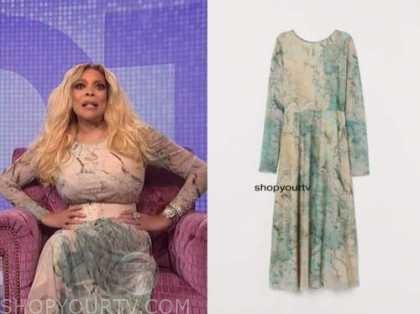 wendy williams, the wendy williams show, abstract print dress